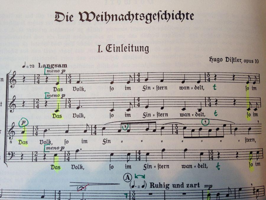 """Hugo Distler - Weihnachtsgeschichte op. 10 - 1933 """"Gewidmet dem Volk, das im Finstern wandelt"""""""