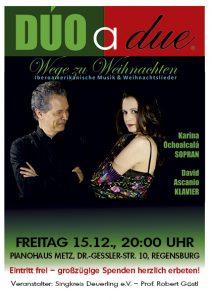 Kammerkonzert Sopran und Klavier - Wege zu Weihnachten @ Pianohaus Metz | Regensburg | Bayern | Deutschland