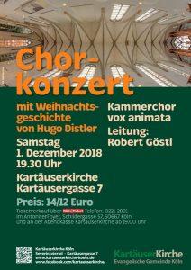 Hugo Distler - Weihnachtsgeschichte op. 10 @ Kartäuserkirche Köln | Köln | Nordrhein-Westfalen | Deutschland