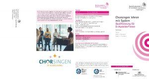 Pilotlehrgang D-Ausbildung Deutsche Chorjugend @ Bundesakademie Trossingen